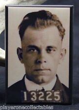 "John Dillinger Mugshot 2"" X 3"" Fridge / Locker Magnet. Mob Gangster"