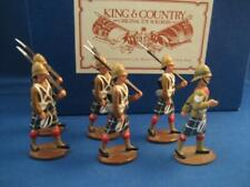 King & Country RARE Early Cameron Highlanders (6 pieces)  RETIRED  Mint in Box