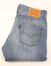 Levi's 504 Mens Blue  Straight  Jeans  W32 L28  (34156)