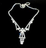 Zierliches Strass Collier - Crystal/Kristallklar - 1A-Qualität aus Böhmen - #805