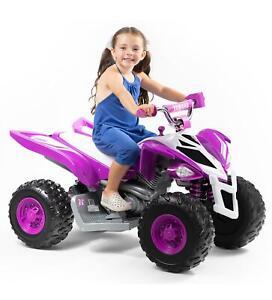 Kids Power Wheels Yamaha ATV 12 Volt Battery Powered Ride On Racer Safe to Ride