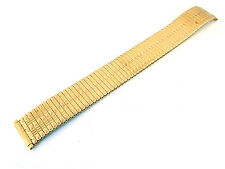 Gold Tone Stretch Expansion Steel Metal Watchband 16-19 Millimeters (2MS322)