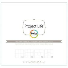 Becky Higgins Project Life Photo Pocket Pages - Small Variety Pack 4 -pack of 12