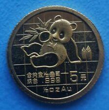 1/20 oz 5 Yuan Panda 1989 aus China / Münze mit 999 Gold 1/20 Unze