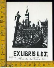 Ex Libris Originale Vianello da Venezia Livio De Toffoli b 728