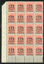 Reich 291 postfris veldeel van 20