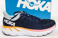 Hoka One One Womens Clifton 7 1110509 BIBH Black Blue Haze Running Shoe Size 7.5