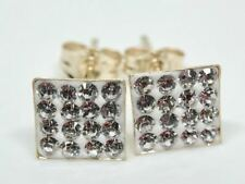 9K 9CT SOLID YELLOW GOLD DIAMOND DRESS EARRINGS!