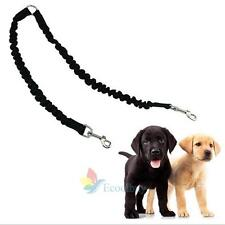 Braided Nylon Double Dual Dog Lead Leash Pet Puppy Training Walking Rope #A