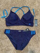 NWT Adidas Womens Two Piece Bikini Swimsuit Blue XL