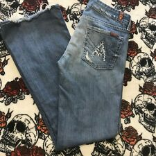 Women 7 For All Mankind A Pocket Distressed Jeans Size 29