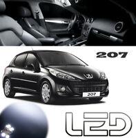 Peugeot 207 Pack 5 Ampoules LED Blanc Habitacle Plafonnier Coffre  Boîtes gants