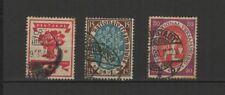 Allemagne 1919/20 Deutsches Reich 3 timbres oblitérés / T2494