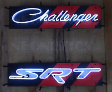 2 Neon sign Challenger and Srt Dodge Hellcat Scat Pack Demon Two shop wall lamp