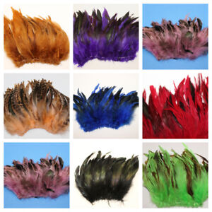 """SCHLAPPENS FRINGE 6-8"""" Rooster Feathers Many Colors to Choose (Halloween/Craft)"""
