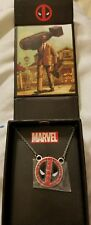 Marvel Deadpool Stainless Steel w/ red gems Necklace in gift box BRAND NEW