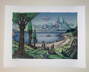 David Welker The Mountain Lake Print Mound Poster Spring Show 2021 Giclee S/N