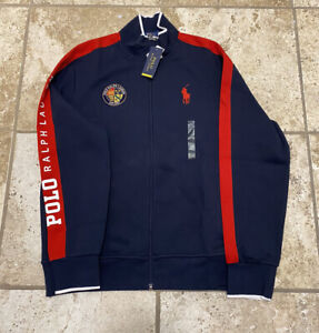 Polo Ralph Lauren Cookie Spellout Track Jacket Size Large New With Tags