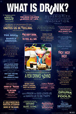 WHAT IS DRUNK? - FUNNY DRINKING POSTER 24x36 - BEER ALCOHOL COLLEGE 241419