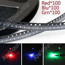300Pcs 0603 SMD LED Red Green Blue 3Colours Diodes Emitting Strip Ligero Kit