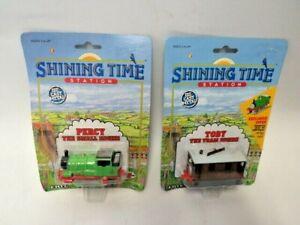 1992 Thomas The Tank Engine Train Shining Time Station  ERTL  Percy &  Toby NIB