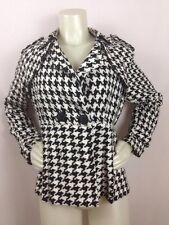 Jacket 70's Style Pixel Punk Hot Topic Super Low Fat Women LG Large Black White