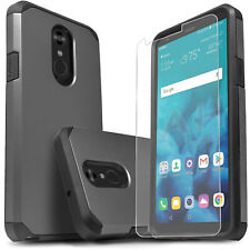 for LG STYLO 4 / 4 PLUS Case + Dual Layer Shockproof  + Tempered Glass Protector
