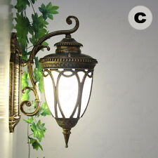 RETRO OUTDOOR WALL LANTERN ALUMINUM GARDEN PORCH LIGHTS WATERPROOF LAMPS/IP44
