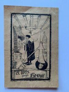 Ex-libris Alsace Léo SCHNUG pour Georges Bischoff, 99 x 59 mm, petit trou !