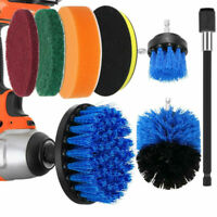 8pcs/Set Power Scrub Drill Brush Scrubber For Home Oven & Car Cleaning Durable