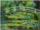 CLAUDE MONET ~ Japanese bridge waterlilies *FRAMED* CANVAS ART 24x16""
