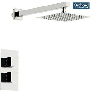 [45% OFF]Orchard Derwent thermostatic square concealed shower valve and head set