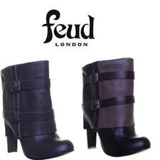 Blowfish Feud London Mink Womens Black Boots Mid Heel UK Size 3 - 8