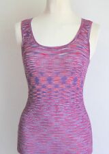 M Missoni Lilacs & Purples Knit Geo & Chequered Pattern Long Vest Dress Uk 8