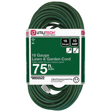 NEW 75-Ft Extension-Cord Outlet 16-Gauge Christmas Yard-Decoration Light Outdoor