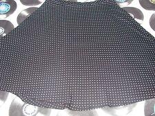 Falda Negra Con Blanco Polka Dots Tamaño S/M Nuevo Rockabilly