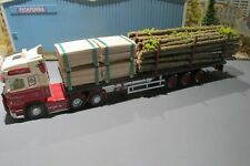 1.50 SCALE HANDCRAFTED  CUT TREE LOAD AND 4 STILLAGES OF PLY WOOD, FOR A FLAT