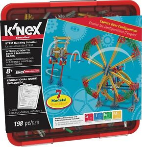 K'NEX Education - Intro to Simple Machines: Gears Set – 198 Pieces