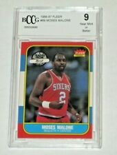 1986 Fleer  Moses Malone Bullets #69 BCCG 9 MINT BECKETT
