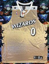 New listing Authentic Adidas NBA Washington Wizards Gilbert Arenas Gold Basketball Jersey