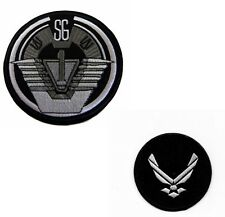 Stargate SG-1 TV Series Patch Set of 2  Iron-On Command Uniform Goth Punk Logo