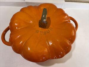 Staub Enameled Cast Iron 3.5-qt Pumpkin Cocotte Dutch Oven