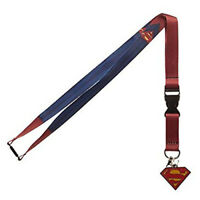 DC Comics Superman Suit Up Costume Lanyard with ID Holder & Charm New