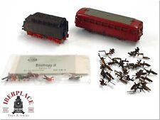 TT escala modelismo trenes Rokal DDR GDR ferrobus tender figuras Set <