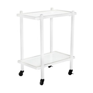 """KennynElvis 24"""" 2-Tier Rectangle Dining Car (White)"""