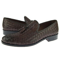 """Alex D """"Baltimore"""" Woven Tassel Loafer, Men's Dress/Casual Leather Shoes, Brown"""