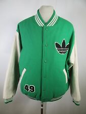 Men's Adidas Wool Leather Sleeve Jacket Size M A2831