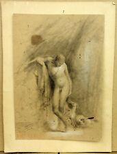 Théodore Caruelle d'Aligny (1798-1871) Superbe Dessin Ulysse et son Chien ?
