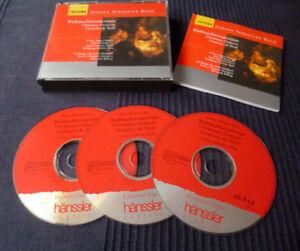 3CD BACH Christmas Oratorio Weihnachtsoratorium RILLING Schreier Schöne Auger
