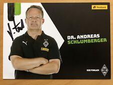 Andreas Schlumberger AK Borussia M'Gladbach 2018/19 orig. signiert NICHT IM SATZ